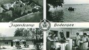 Foto einer Postkarte aus den 60er Jahren vom Campingplatz in Markelfingen