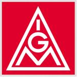 IG Metall Logo weiß auf rot