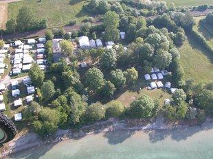 Eine Luftaufnahme vom Camp am Bodensee
